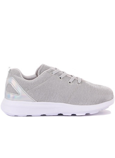 Cool 20-S05 Gümüş Kız Çocuk Fileli Günlük Spor Ayakkabı Gümüş
